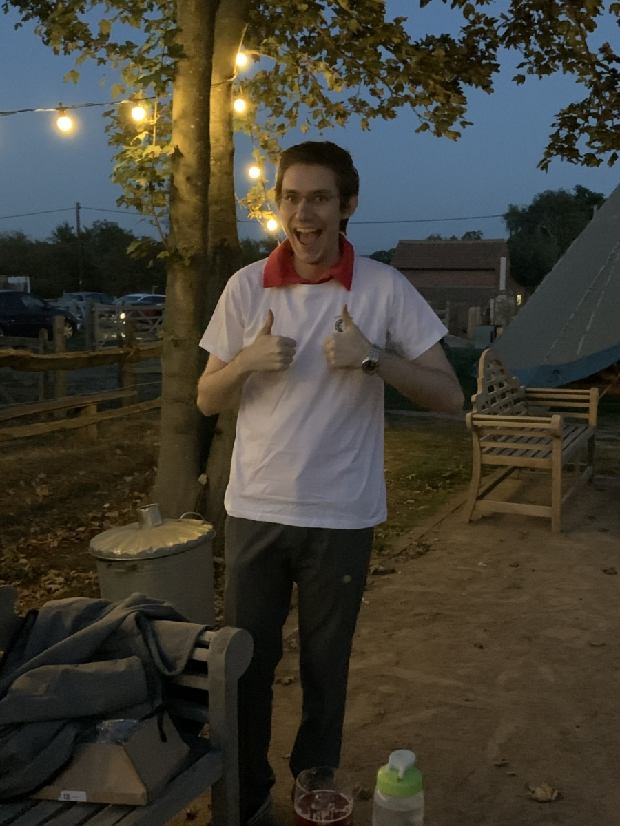 Daniel after receiving his T-Shirt for winning the last Zoom Quiz